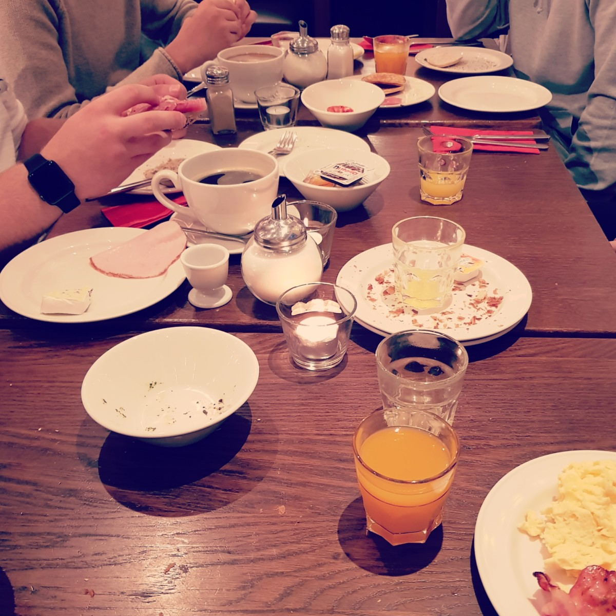 Ein letztes Mal…. Frühstücken!