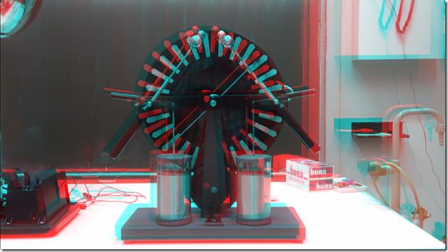 Ein Influenzmaschine mit dem HTC EVO3D fotografiert.